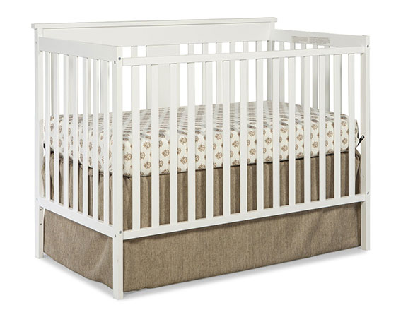Stork Craft Mission Ridge Fixed Side Convertible Crib, White