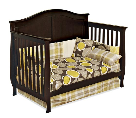 Child Craft Camden 4-in-1 Convertible Crib, Jamocha