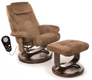 Comfort Products 60-078011 Deluxe Leisure Recliner Chair with 8-Motor Massage & Heat, Brown