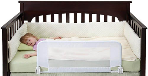 1. dexbaby Safe Sleep Convertible Crib Bed Rail