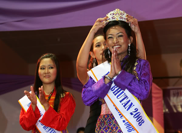 Crowned as the very first ever Miss Bhutan is Tshokey Tshomo Karchung