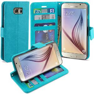 Galaxy S6 Case, LK Samsung Galaxy S6 Wallet Case