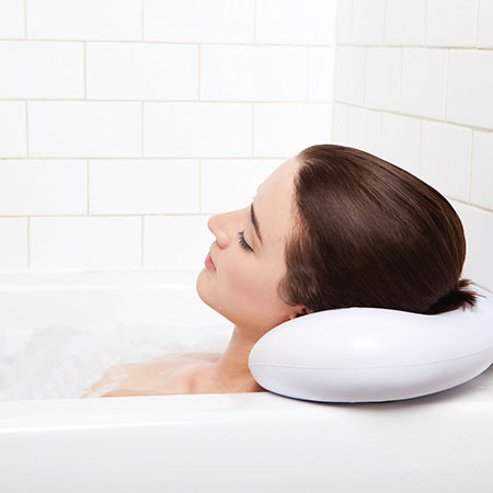 6. Bath Pillow - Luxury Spa Bath Pillow with Heavy Duty Suction Cups
