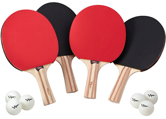 4. Viper 4 Racket Table Tennis Set