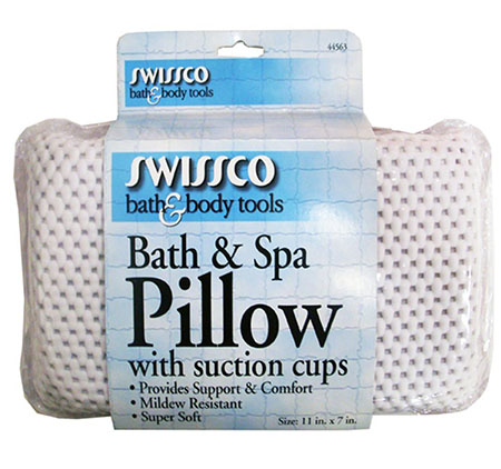 3. Swissco Bath and Spa Pillow with Suction Cups