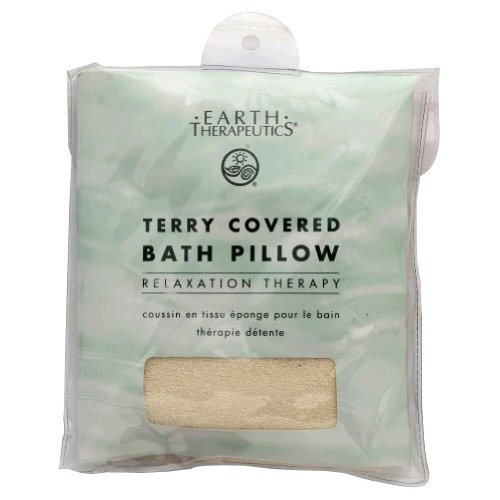 7. Earth Therapeutics Terry Covered Bath Pillow-Natural