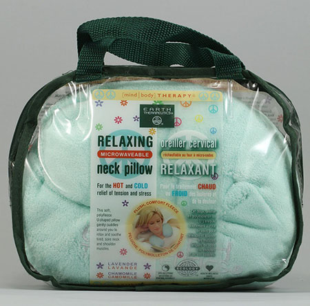 2. Earth Therapeutics: Relaxing Microwavable Neck Pillow