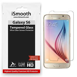 Samsung Galaxy S6 Screen Protector Tempered Glass, iSmooth