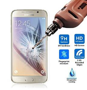 Galaxy S6 Screen Protector, Jelly Comb Premium 9H Tempered Glass Screen Protector