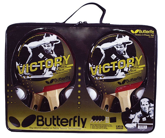 7. Butterfly Victory 4-Player Table Tennis Set