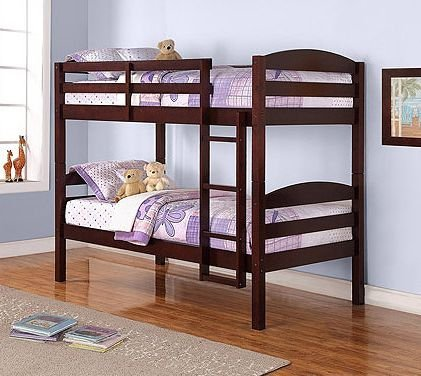 3. Mainstays Wood Bunk Bed, Espresso