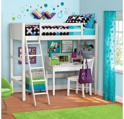 2. Your Zone Loft Style Bunk Bed