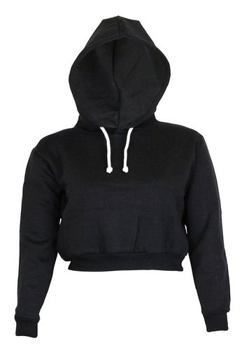 5. Plain Crop Top Hoodies