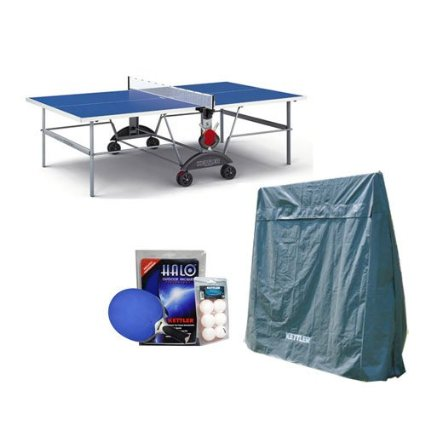 1. Kettler Top Star XL Weatherproof Table Tennis Table with Outdoor Accessory Bundle