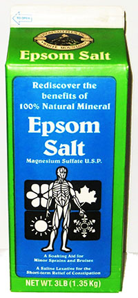 3. White Mountain Epsom Salt Magnesium Sulfate Soaking Solution