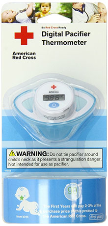 8. The First Years American Red Cross Digital Pacifier Thermometer