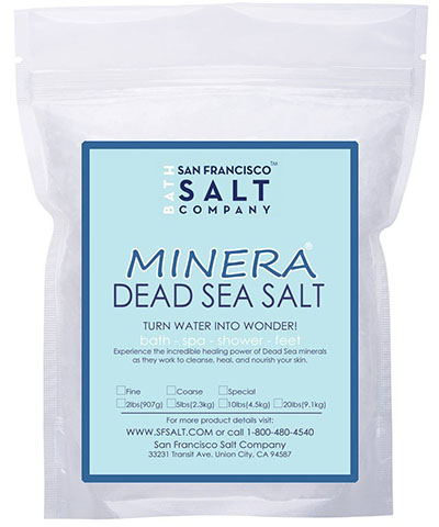 5. Minera Dead Sea Salt Bulk 5lb Bag Fine Grain