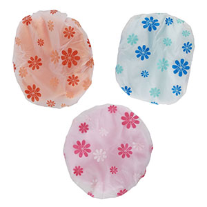 niceeshop(TM) Microfiber Double Layers Elastic Reusable Waterproof Bath Cap Shower Cap