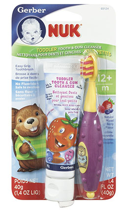 4. NUK Toddler Tooth and Gum Cleanser