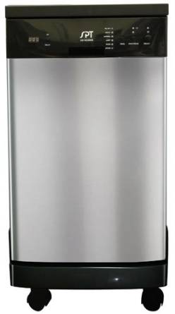 18″ Portable Dishwasher- Stainless steel SPT Dishwasher
