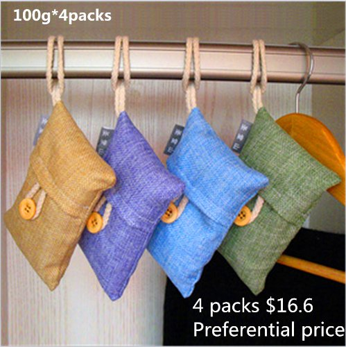 Natural Auto Air Purifying Bamboo Charcoal Bag Air