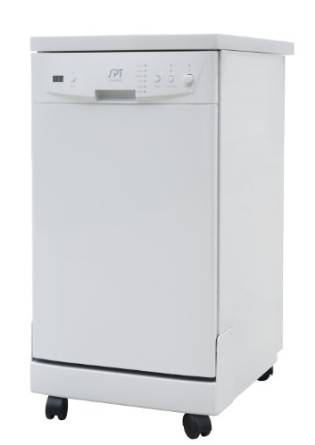 Sunpentown Home Indoor Kitchen 18″ Portable Dishwasher With Energy Star – White