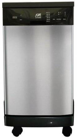 Sunpentown SD-9241SS 18″ Portable Dishwasher – Stainless Steel