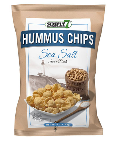 Simply 7 Hummus Chips, Sea Salt, 5-Ounce Bags