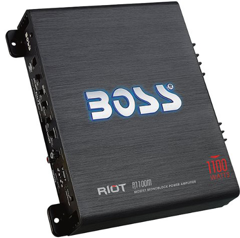 Boss Audio Riot Monoblock Class A/B Amplifier R1100M