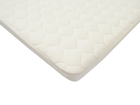 American Baby Company Organic Cotton Quilted Pack n Play Size Fitted Mattress Pad Cover, Natural