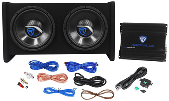 Rockville RV10.2A 1000w Dual Car Subwoofer Enclosure