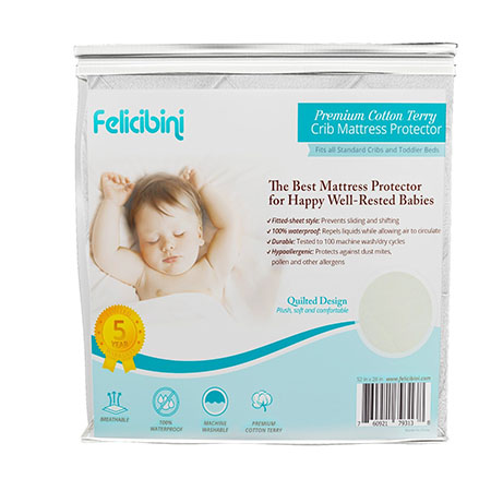 Baby Mattress Protector for Cribs - Waterproof Soft and Absorbent Quilted Cotton Surface