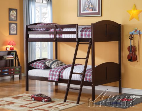 9. Toshi Twin/Twin Bunk Bed by Acme Furniture