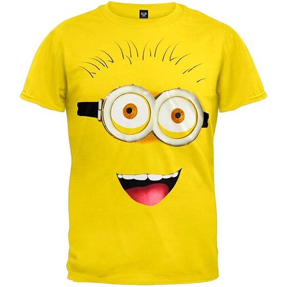 1. Hybrid Despicable Me 2 Front Face T-shirt Yellow