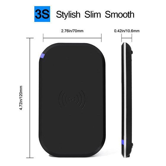 5. CHOE Stadium Qi Wireless Charger 3-Coils Wide Charging Area Wireless Charging Pad for Samsung Galaxy S6 / S6 Edge