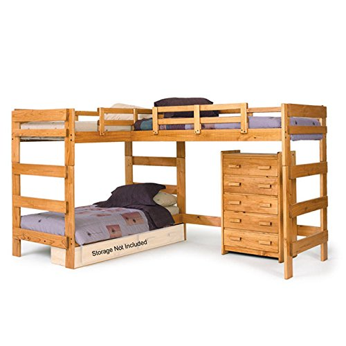 2. L-Shaped Bunk Bed