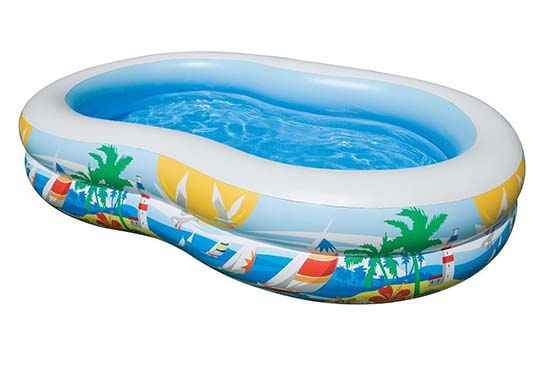 10. Intex Swim Center Paradise Inflatable Pool, 103