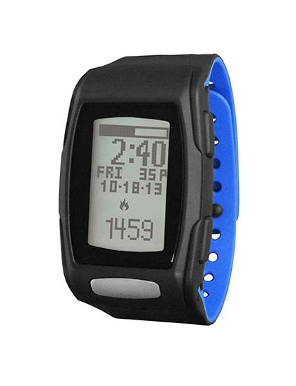 9. LifeTrak Zone C410 24-hour Fitness Tracker, Black/Blizzard Blue