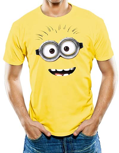 3. Universal Apparel Men's Minion Face Funny T-shirt