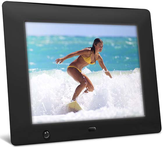 9. NIX 8 inch Hi-Res Digital Photo Frame with Motion Sensor