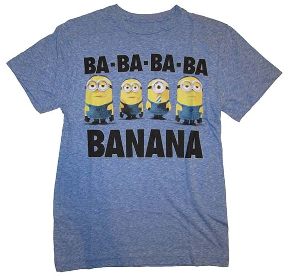 4. Despicable Me 2 Minion Banana Mens T-shirt