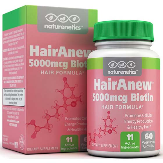 8. Biotin Hair Growth Vitamins - 11 Powerful Ingredients Including 5000mcg Biotin