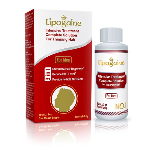 3. Lipogaine for Men: Intensive Treatment & Complete Solution for Hair Loss / Hair Regrowth