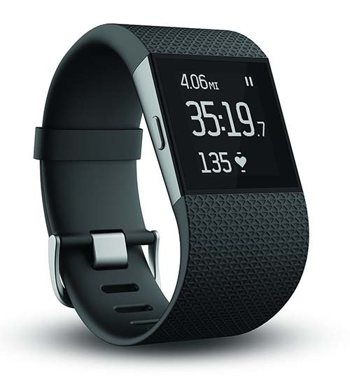 10. Fitbit Surge Fitness Superwatch, Black, Large
