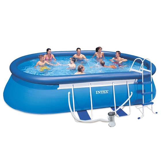 6. Intex 18ft X 10ft X 42in Oval Frame Pool Set