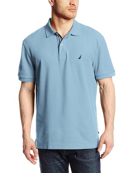 4. Nautica Men's Short-Sleeve Solid Deck Polo Shirt