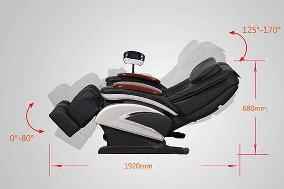 electric full body shiatsu massage chair recliner wheat stretched foot rest 06c - Massage Chairs For Sale