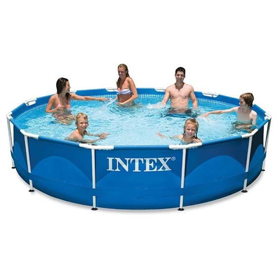 1. Intex 12ft X 30in Metal Frame Pool Set