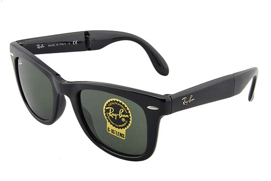 5. Ray-Ban Men's Folding Wayfarer Square Sunglasses