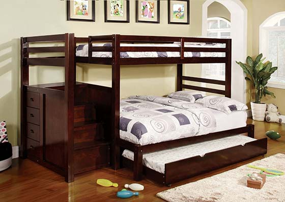 6. Calvin Twin/Full Youth Bunk Bed by Furniture of America